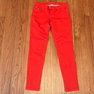 ✨Bright Orange🔸Denim Pants. Arden B. Size 2